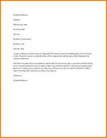 Absence Request Letter Sle 5 Absence Letter Format Addressing Letter