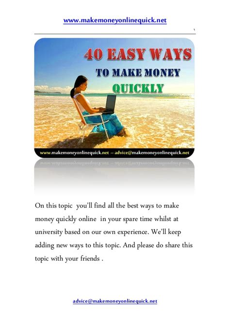 Easy Online Ways To Make Money - 40 easy ways to make money quickly online