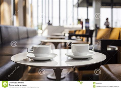 coffees at coffee shop cafe interior stock photo image