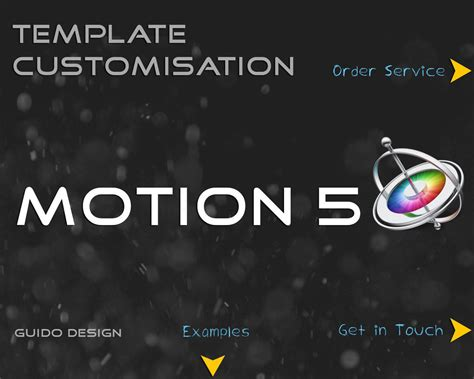 professional apple motion 5 customization template by