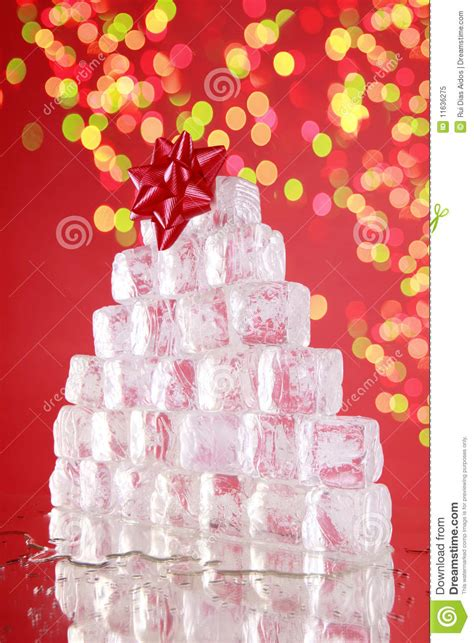 ice cube christmas tree cube tree stock image image of pine color 11636275