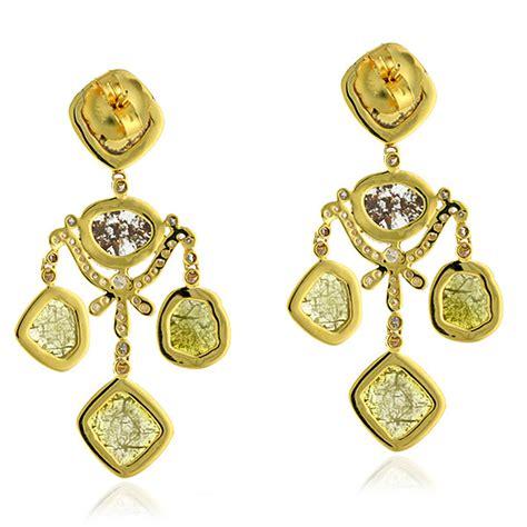 9 13ct Diamond Chandelier Earrings 18 Kt Solid Yellow Gold Yellow Gold Chandelier Earrings