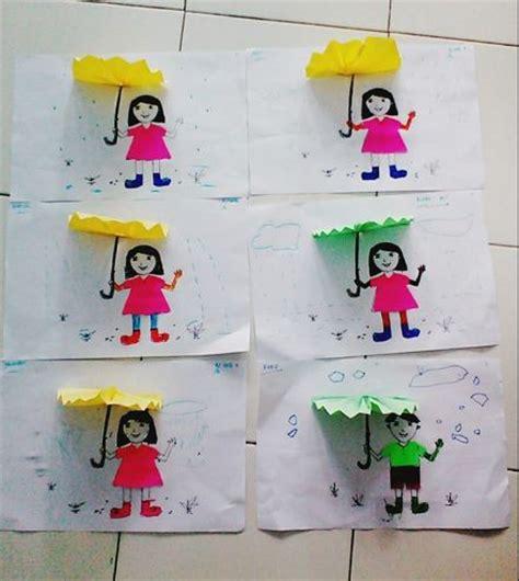 Kreasi Seni Budaya Dan Prakarya Untuk Sd Kelas 1v kreasi tema cuaca anak berpayung dunia belajar anak