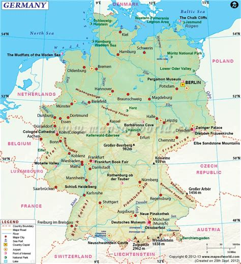 us map showing major airports map of germany shows roads airports national capital