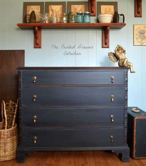 chalk paint vs general finishes milk paint dresser in black pepper chalk style paint and flat out
