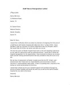 Exle Of Resignation Letter For Nurses by Sle Nursing Resignation Letter 6 Documents In Pdf Word