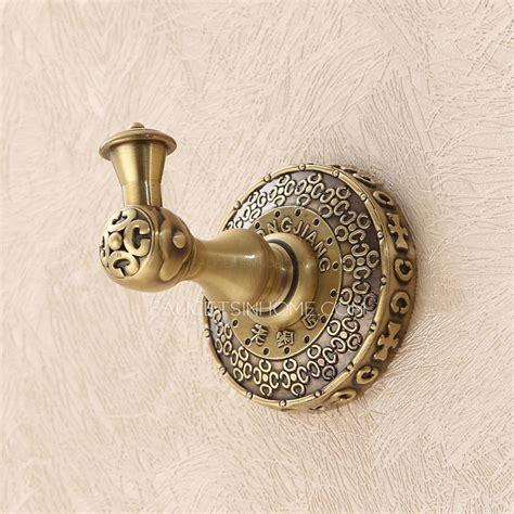Antique Bronze Bathroom Accessories Antique Bronze Bathroom Accessory Single Robe Hooks