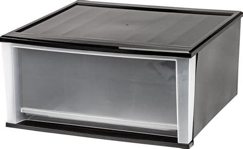 Large Stackable Drawers by Iris Usa Inc 2 51 Quart Stacking Drawer X Large Black