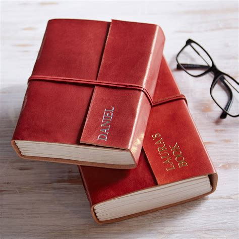 Handmade Leather Journals With Handmade Paper - personalised handmade larger leather journals by paper