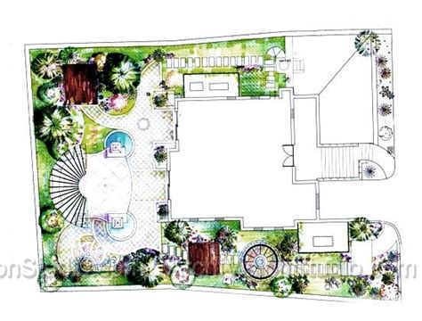 landscape floor plan unit floor plans residential landscaping plans pinterest