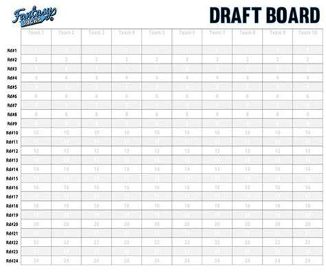 Football Draft Board Sheets Printable