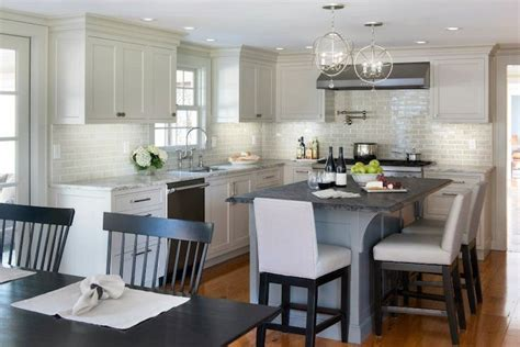 Ivory Kitchen Faucet by Light Gray Kitchen Cabinets Transitional Kitchen