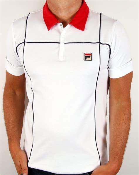 Polo Shirt Fila Keren Terlaris fila vintage terrinda polo shirt white mk3 settanta borg mens