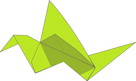 Flying Origami - clipart origami flying bird