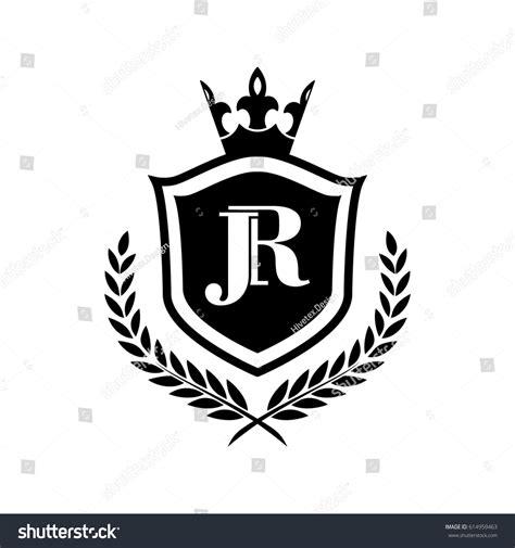 Emblem Jp Shield jr logo stock vector 614959463