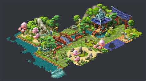 Gardenscapes New Acres Areas by Artstation Gardenscapes New Acres Artdump Ilya Shigin
