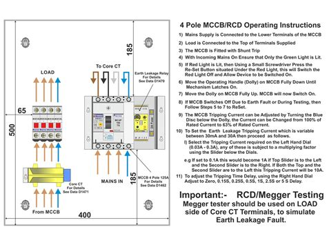 earth leakage relay wiring diagram