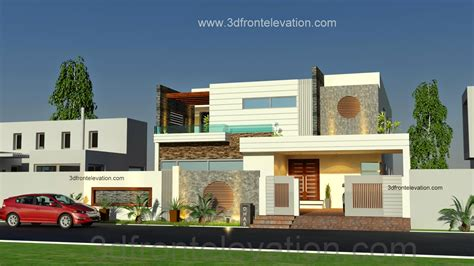 houses and plans 3d front elevation com 1 kanal beautiful modern house plan and 3d front elevation dha