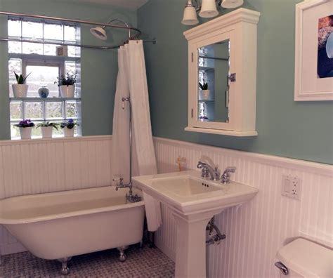 bathroom wainscoting height craftsman bathroom ideas footed tub window bead board