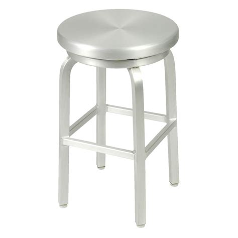 Aluminum Swivel Counter Stool by Style Miller Aluminum Backless Swivel Counter Stool