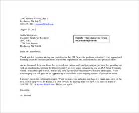 sle thank you letter to recruiter 10 free