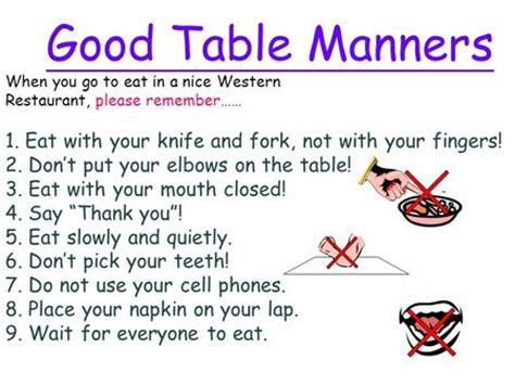 8 Places Need More Manners by Dining Etiquette By Klumpp Ppt