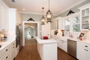 White kitchen narrow kitchen wall color hgtv fixer upper dream