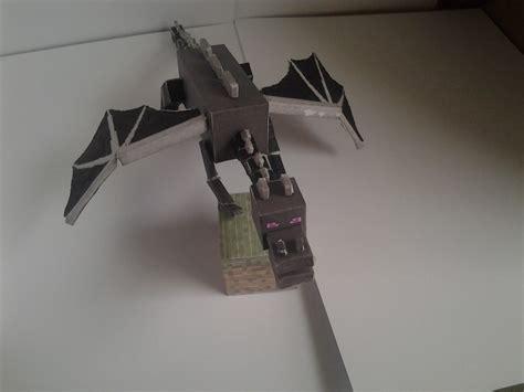 Minecraft Papercraft Enderdragon - minecraft enderdragon on grass block gaming now