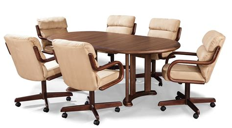 Dining Room Chairs With Casters Dining Room Chairs With Wheels Casters Leather Comfortable Family Services Uk
