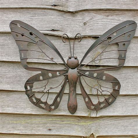 metal butterfly wall decor garden large decorative metal butterfly garden wall 163 25 3