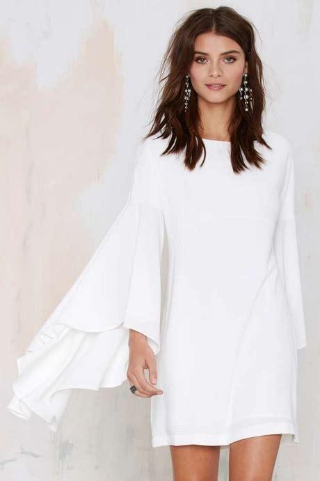 winter white dresses  sleeves