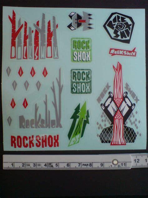 Rock Shox Aufkleber Gabel by Rock Shox Stickerbogen Aufkleber Set Neu Bikemarkt Mtb