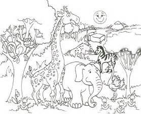 African animal coloring page only coloring pages