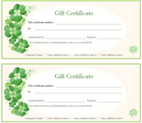 professional gift certificate template certificate software a powerful tool to make