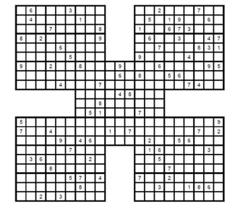 samurai sudokus para imprimir grtis sudoku samurai medio para imprimir 4 sudoku gratis para