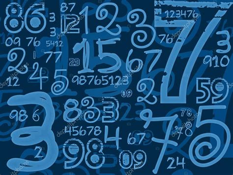 background design numbers blue handmade numbers math background stock photo