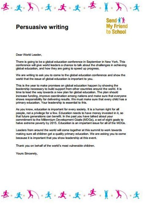persuasive letter template ks2 persuasive letter my friend and lesson plans on