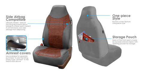 seat covers for seats with airbags faux leather car seat covers front seat airbag ready for