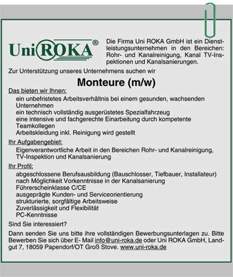 Bewerbung Rotation Ausbildung Und Praktika Bei Uni Roka In Papendorf Bei Rostock