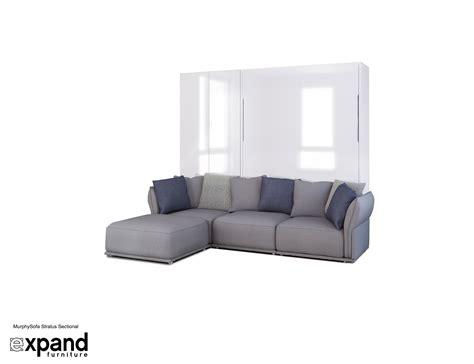 Sofa Wall Bed System Murphysofa Stratus Sectional Sofa Set Expand Furniture Folding Tables Smarter Wall