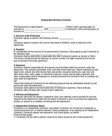 business contract template 7 free word pdf documents
