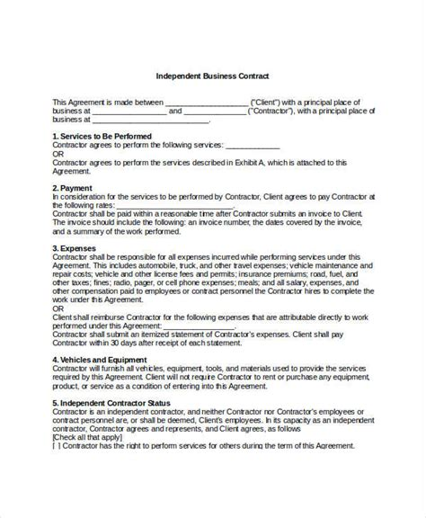 business contract agreement template business contract template 7 free word pdf documents