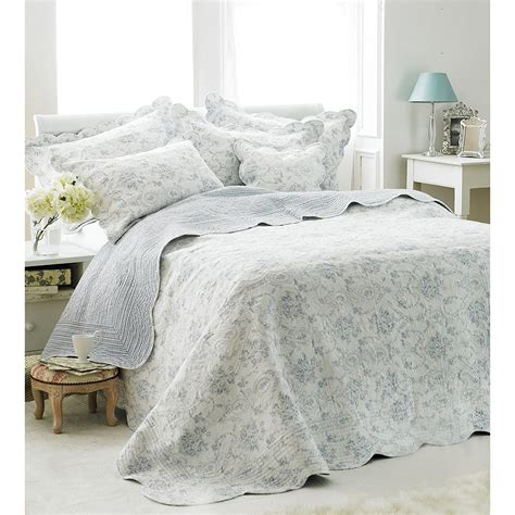 100 Cotton Quilted Bedspreads by Vintage Toile Bedspread Luxury 100 Cotton Soft