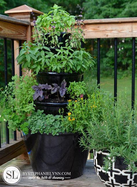 diy tiered planter diy patio herb garden tiered