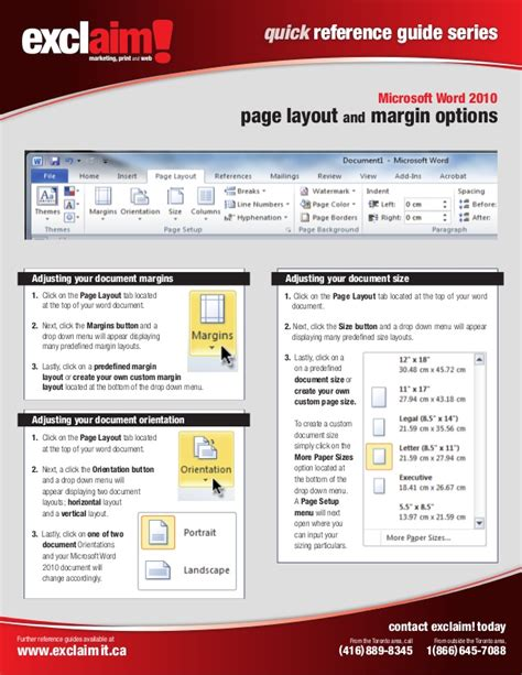 word layout guides free microsoft word 2010 quick reference guide from exclaim