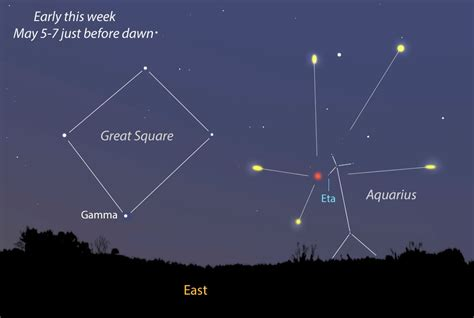 Eta Aquarid Meteor Shower by Revisit Halley S Comet Stay Up Late For This Week S Eta