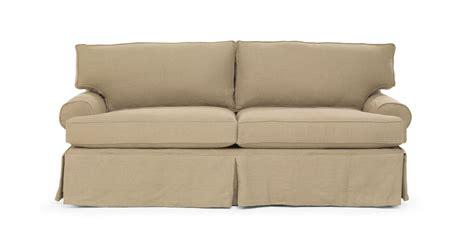 mitchell gold slipcovered sofa mitchell gold bob williams nicki sofa slipcovered in