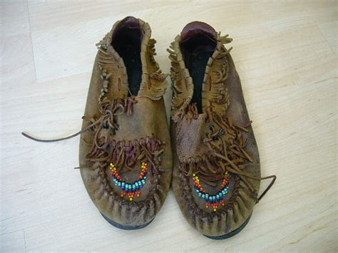 Handmade Indian Moccasins - vintage american indian beaded fringed suede by cindysboho