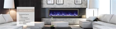 Fireplaces Unlimited by Bi 60 Slim Electric Fireplace Indoor Outdoor Fireplaces Unlimited
