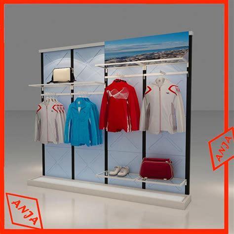 Rak Barang Runcit retail boutique rack coat rack portable metal clothing merchandise store display manufacturers